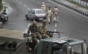 Des troupes indiennes se sont déployées dans le Cachemire, début août 2019.