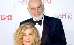 L'acteur Sean Connery et son épouse, l'artiste peintre Micheline Roquebrune