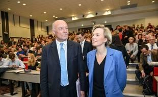 Alain Rousset (PS) et Virginie Calmels (LR)