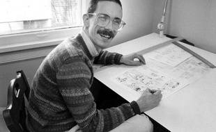 Une des rares photos de Bill Watterson, en 1986