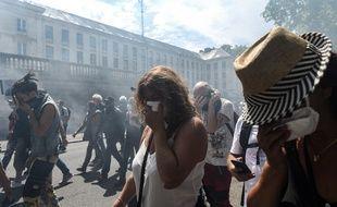 Le début de la manifestation est déjà compliqué à Nantes.