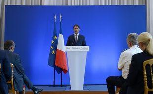 Christophe Castaner lors de son allocution au ministère de l'Intérieur, lundi 8 juin 2020.