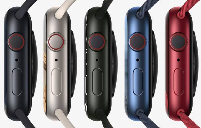 The Apple Watch Series 7 offered in new colors.