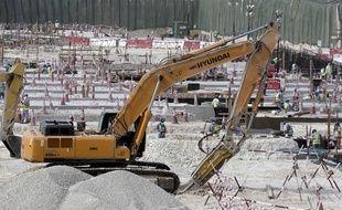 Le chantier d'un stade à Doha en mai 2015.