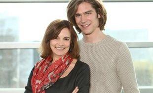 Marie Claire Mezerette et Amaury Vassili, candidat français à l'Eurovision