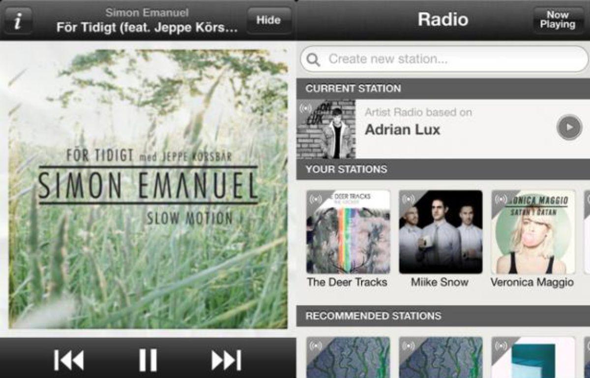La radio Spotify a été lancée sur iOS le 19 juin 2012. – DR
