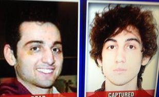 Portraits des frères Tsarnaev, accusés d'être les auteurs de l'attentat de Boston du 15 avril. L'aînée, Tamerlan, à gauche, décédé, et le cadet, Djokhar, capturé par la police le 19 avril.