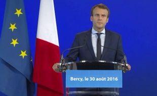 Emmanuel Macron a annoncé le 30 août 2016 qu'il quittait son poste de ministre de l'Économie.