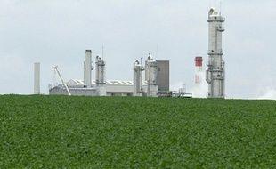 A Pomacle-Bazancourt (Marne) une usine de transformation de betterave sucrière en bioéthanol.