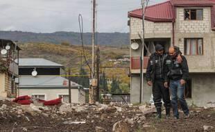 Dans la capitale de la région contestée, Stepanakert.