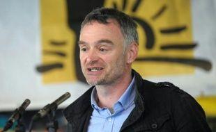 Laurent Pinatel, porte-parole de la Confédération paysanne le 23 avril à Saint-Jean-Pied-de-Port