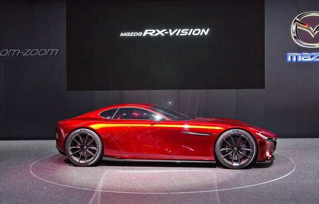 Concept car Mazda RX-Vision was presented during the 86th International Motor Show in Geneva, on Tuesday, March 1st, 2016. Photo/Josef Horazny (CTK via AP Images)//916100644606/CZECH REPUBLIC OUT, SLOVAKIA OUT, POLAND OUT, SWEDEN OUT, NORWAY OUT Please contact your sales representative for pricing and restriction questions. CZECH REPUBLIC OUT, SLOVAKIA OUT, POLAND OUT, SWEDEN OUT, NORWAY OUT/1603012016