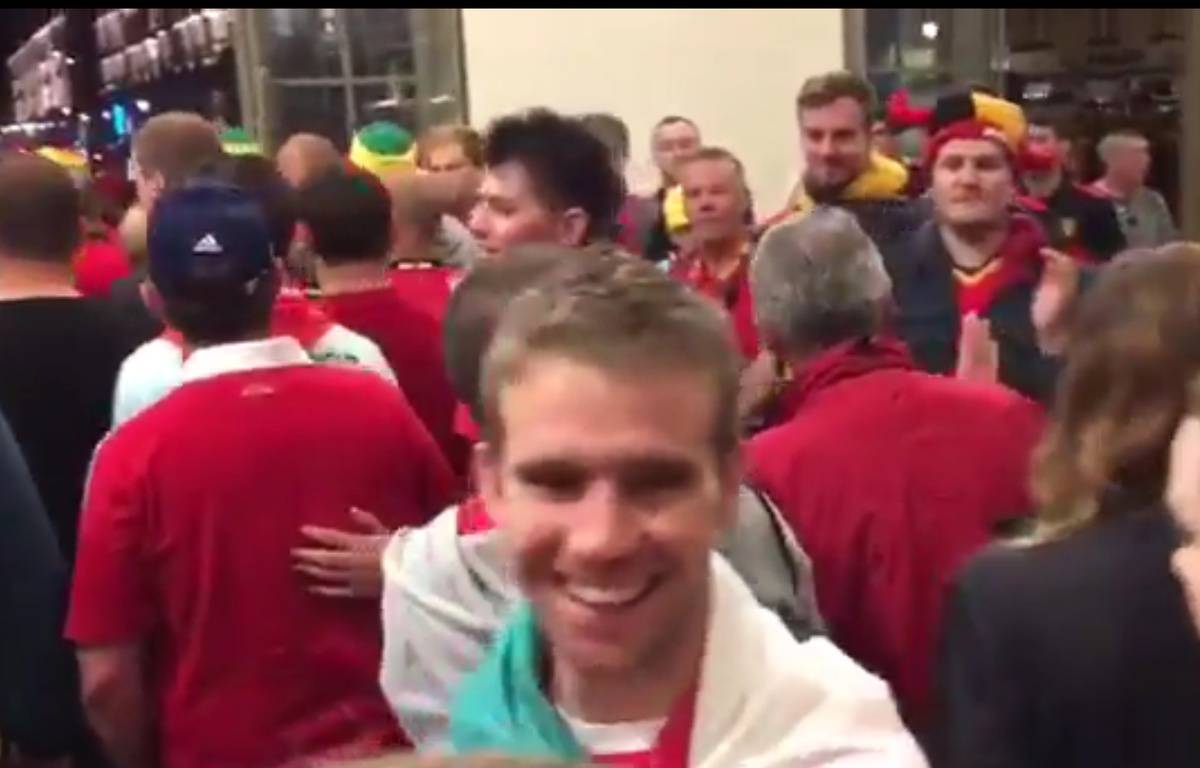 Les Belges célèbrent les Gallois à Lille – Twitter