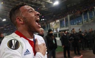 Corentin Tolisso a surtout connu des émotions fortes en Ligue Europa pour sa dernière saison à Lyon, à l'image de la qualification contre l'AS Roma.