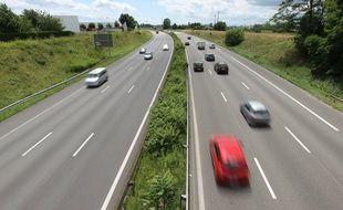 Illustration de la circulation sur une autoroute