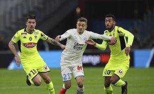 Valentin Rongier et les Marseillais ont été mis en difficulté par le SCO d'Angers, ce samedi 25 janvier 2020.