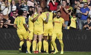 Les Nantais sur l'ouverture du score d'Eysseric contre Lille.