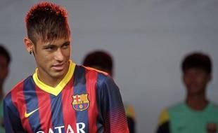 L'attaquant brésilien du Barça, Neymar, le 7 août 2013, à Bangkok.