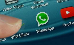 L'application WhatsApp sur un smartphone