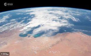 La Terre en timelapse vue par Thomas Pesquet.