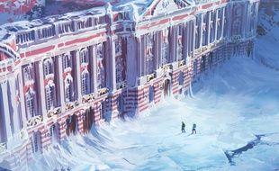 Le Capitole de Toulouse figé dans les glaces en 2180, imaginée par Sylvain Sarrailh et présentée lors d'une exposition au Quai des Savoirs.