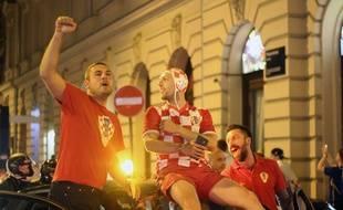 La soirée dans les rues de Zagreb après la défaite de la Croatie en finale de la Coupe du monde.