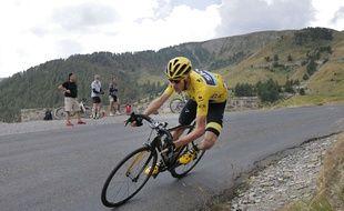 Christopher Froome lors de la 17e étape du Tour de France, le 22 juillet 2015.