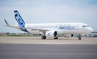 Un Airbus A320neo sur le tarmac de l'aéroport de Blagnac, près de Toulouse.