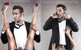 Les affiches du film «Les Infidèles», retirées des panneaux publicitaires.