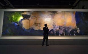 Ce  triptyque du peintre Zao Wou-Ki a été adjugé pour 65 millions de dollars.
