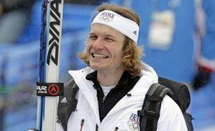 Julien Lizeroux, après la descente du combiné des JO 2010, le 21 février 2010.
