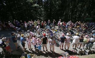 Le peloton du Tour de France le 18 juillet 2014.