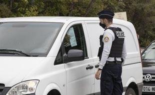 Photo d'illustration d'un contrôle de police.