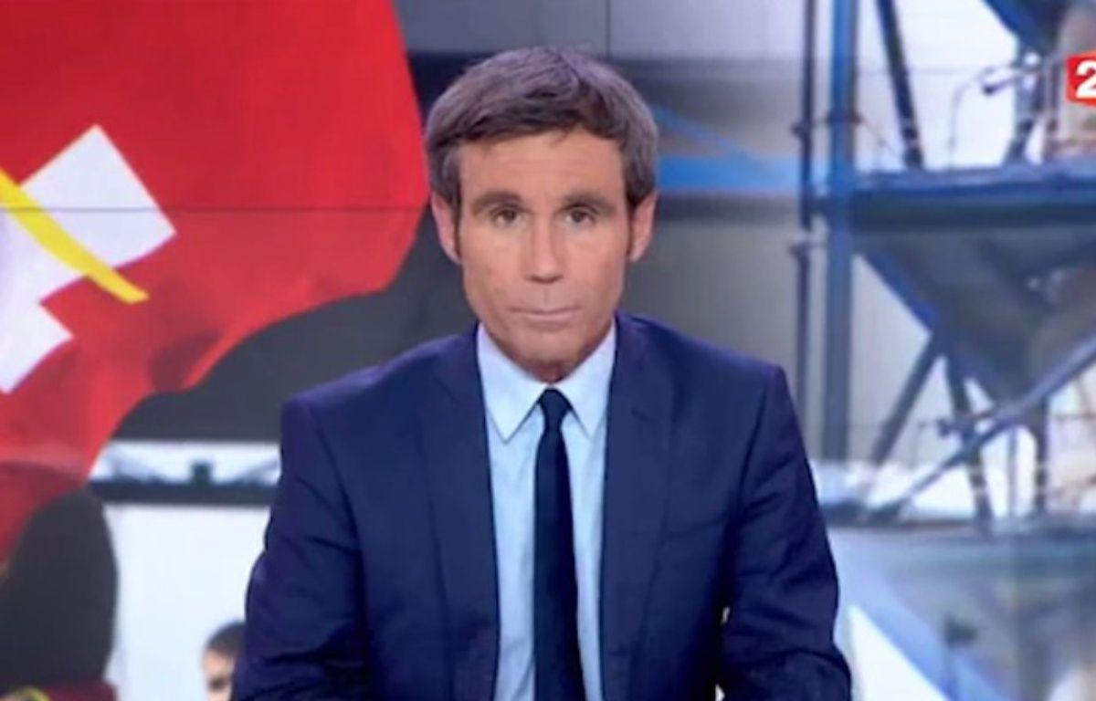 Capture d'écran du «20 Heures» de France 2 du 30 mai 2016 présenté par David Pujadas. – France Télévisions