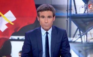 Capture d'écran du «20 Heures» de France 2 du 30 mai 2016 présenté par David Pujadas.