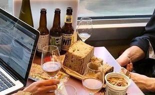 Un pique-nique dans le train