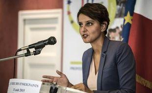 La ministre de l'Education, Najat Vallaud-Belkacem, le 31 août 2015 à Dijon