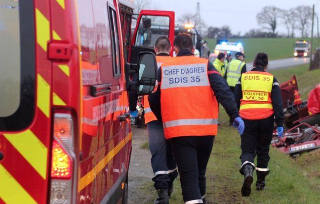 Rennes: Quatre jeunes blessés, dont deux graves, dans un accident de la route