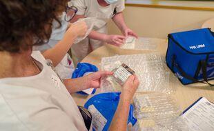 Préparation de la vaccination dans un Ehpad de Toulouse, le 5 janvier 2021 (illustration)