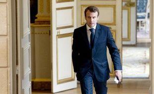 Le ministre de l'Economie Emmanuel Macron le 22 octobre 2014 à l'Elysée