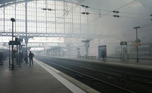 Illustration d'une manifestation des cheminots dans la gare Lille-Flandres (Archives)