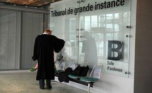 Illustration: Un avocat au tribunal de grande instance de Nanterre.