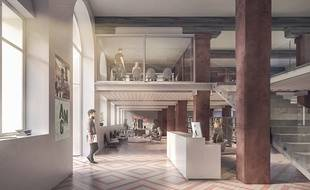 Strasbourg: La future Hear au sein de la Manufacture des tabacs. Philippe Prost, architecte / AAPP © adagp – 2018
