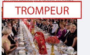 La photo faussement associée à un banquet de l'OMS en pleine pandémie.
