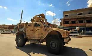 Un véhicule de la coalition internationale anti-Daesh en Syrie, le 5 juin 2018.