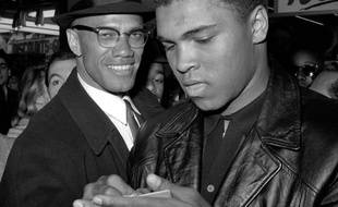 Cassius Clay /Mohamed Ali avec Malcolm X