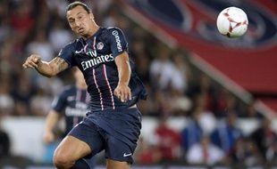 Zlatan Ibrahimovic, l'attaquant du PSG, le 11 août 2012, contre Lorient, au Parc des Princes.