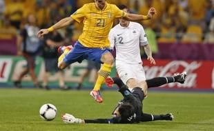 Christian Wilehlmsson lors de l'Euro 2012, match Suède-France.