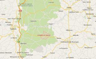 Localisation Limogne et Carjac