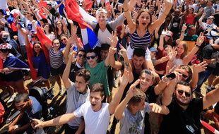 Vendredi 6 juillet, lors du quart de finale France-Uruguay, sur la prairie des Filtres.